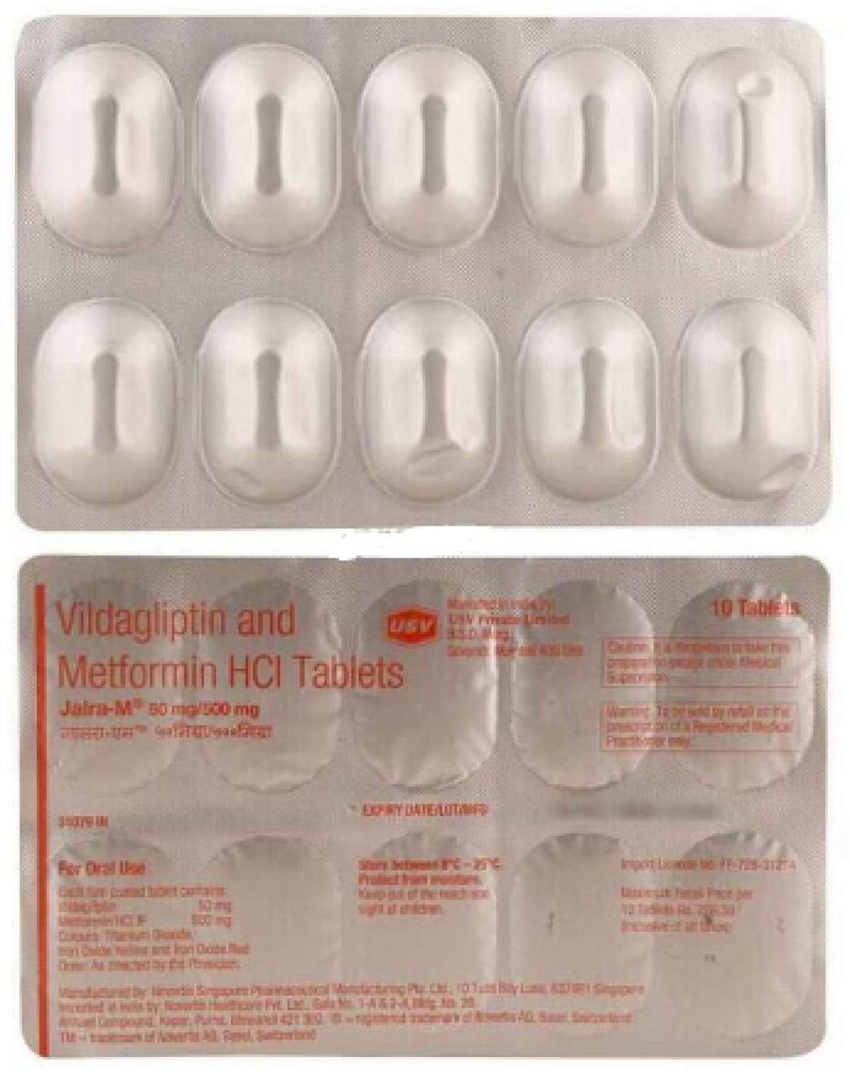 Jalra-M 50mg/500mg Tablet