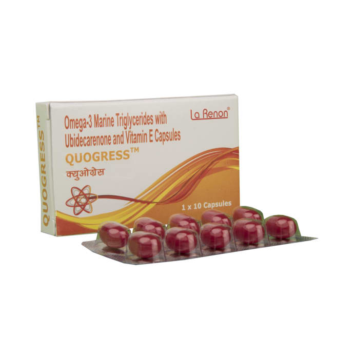 Quogress soft gelatin capsule